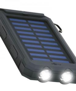 Outdoor Powerbank mit Solarpanel und Taschenlampenfunktion