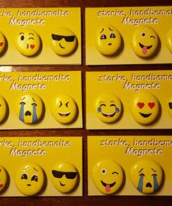 Von Hand bemalte Smiley Magnet-Steine aus fairtrade Projekt in Marokko