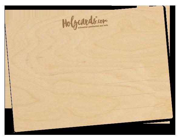 Schweizer Postkarten aus Holz