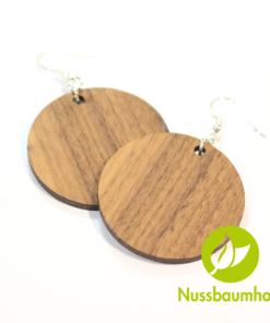Ohrhänger mit Nussbaum Holz