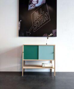 Massivholz Sideboard mit Schiebetüren